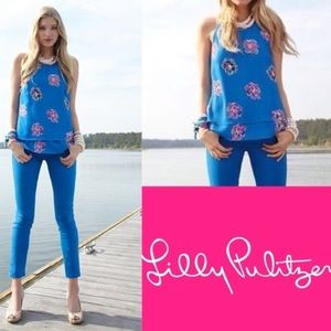 EUC Lilly Pulitzer Maris top in Royce blue